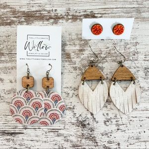 The Little White Willow 3 Piece Earring Bundle